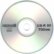 10 Genuine Maxell Blank CD-R CD 52x discs 80 Min 700MB Extra Protection sleeves