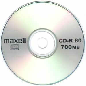 10 Genuine Maxell Blank CD-R CD discs 80 Min 700MB Extra Protection sleeves