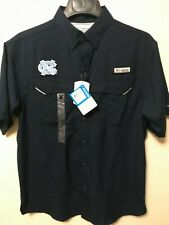Columbia PFG Low Drag Offshore Short Sleeve Shirt UNC Tarheels Size Small