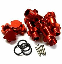 N10160 1/8 M17 17mm Wheel Hex Hub Extension Adapter Alloy Red 4 30mm 12mm Cap