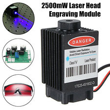 2500mW Blue Laser Head Engraving Module Marking Diode + Glasses For CNC Engraver
