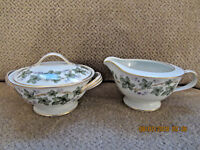 Noritake Madera 5106 sugar and creamer with lid 1950's china excellent!