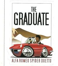 ALFA ROMEO SPIDER DUETTO THE GRADUATE MOVIE Sticker Decal