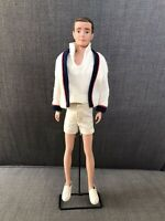 Muñeco Ken Vintage Brunette 1962 Novio Barbie Mattel # 790 TIME FOR TENNIS