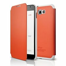 elago G4 Leather Flip Case - Orange for at&t, International Galaxy Note