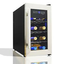 Nutri-Chef Electric Wine Cooler - Wine Chilling Refrigerator Cellar (8-Bottle)