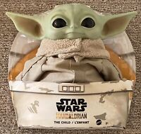 "BABY YODA PLUSH The Child Mandalorian Star Wars 11"" Mattel Vinyl Head IN STOCK"
