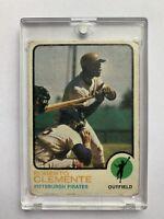 1973 Topps Roberto Clemente Pittsburgh Pirates Baseball Card