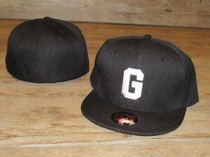 Homestead Grays Negro League Black Fitted Hat Cap Men's Size 7