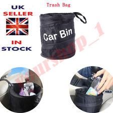 Cubo De Coche Plegable Resistente al Agua Negro camada bolsa de basura residuos basura barco