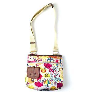 Lily Bloom Spring Showers Camilla Floral Graphic Crossbody Messenger Bag Handbag