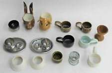 More details for ceramic metal wood egg cups kitchenware collection assorted job lot x 15