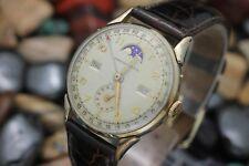 Vintage KINGSTON Watch Co. RECORD Datofix Triple Date Moonphase Men's Watch