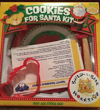 New In Box Build A Bear Cookies For Santa Kit Plate Cookie Cutter Spatula Recipe