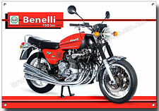 BENELLI 750 SEI MOTORCYCLE METAL SIGN.(A3 SIZE) VINTAGE ITALIAN MOTORCYCLES.