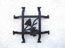 """Tuscany Speakeasy Door Grille 12"""" x 12"""" adorned with grapes and a leaf"""