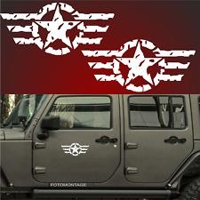 2 30cm US Army Sterne RETRO Sterne Auto Aufkleber Sterne USAF jeep USA Army F