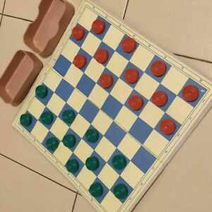 Vintage Soviet Draughts Checkers Ussr Union Sport Federation Russian Game 1970s