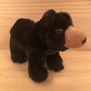 "FOLKMANIS ""Black"" Gorgeous Little Black Bear Cub Animal Soft Toy Stuffed Friend"