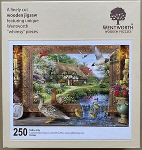 "WENTWORTH ""Still to Life"" 250 piece Wooden JIGSAW PUZZLE Whimsy"