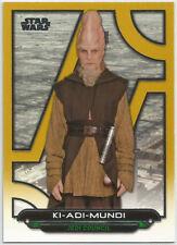 Star Wars Galactic Files Reborn~GOLD PARALLEL Base Card TPM-19 Ki-Adi-Mundi #/10