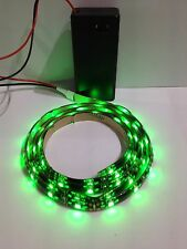 Battery Operated Green Led Light Strip 9V 500mm Waterproof