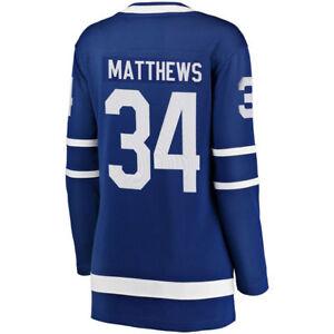 Women's Toronto Maple Leafs Auston Matthews Fanatics Royal Hockey Jersey Smalll