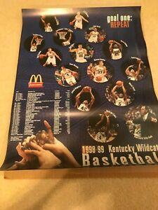 1998-99 Kentucky Wildcats Poster Scott Padgett Tayshaun Prince P17