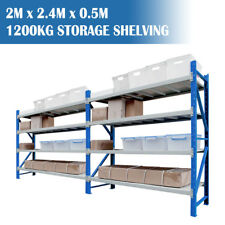 Longspan Shelving Warehouse Racking Garage Storage Shelves 2M x 2.4M x 0.5M