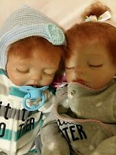 CUTE REBORN TWINS BOY AND GIRL  DRESSED   BEAUTIFUL RED HAIR.. pick one
