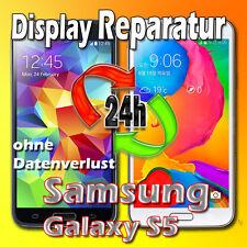 Samsung Galaxy S5 SM-G900F Frontglas Glas Displayglas Reparatur Schwarz