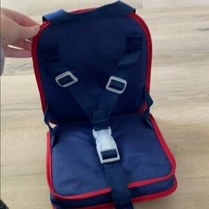 Pottery Barn Kids Doll Car Booster Seat Portable Travel Seat Blue NWT NLA