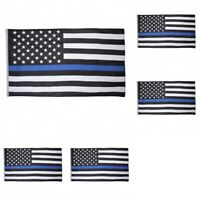 5-Pack Thin Blue Line American Flag 3X5' Police Stars & Stripes Support Flag