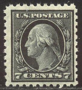 U.S. #469 Mint NH - 7c Black, P10, Unwmkd ($270)