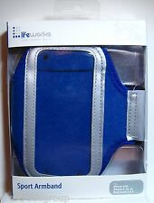 Sport Armband Blue for iPhone 4,5, SE AND iPod Touch 4,5 & others Life Works NIB
