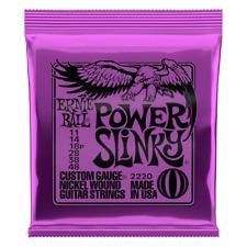 🎸 Ernie Ball Power Slinky 2220 Cordes pour guitare électrique | 11-48 | Nickel Wound 🎸