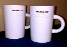 Starbucks Coffee Mugs White with Brownish Lettering