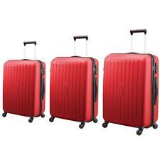 Carlton Phoenix 3 Piece Spinner Suitcase Set, Red *Cabin - Medium - Large*