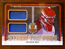 2016/17 PATRICK ROY LEAF MASKED MEN DUAL GAME USED GOALIE PADS /25