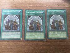 Yu-Gi-Oh 3x Super Rare Six Samurai United GLD2/PTDN (NM)