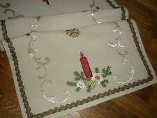 Omas  Weihnachtsdecke  - Tischläufer  90 cm / 49 cm  Weihnachten  Handarbeit