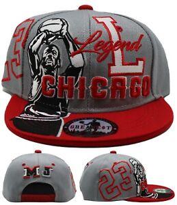 Chicago New Legend Youth Kids 23 MJ Jordan Bulls Gray Red Era Snapback Hat Cap