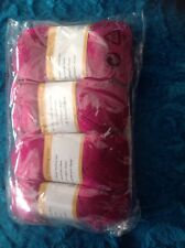 4x50g Cerise Pink Wool From Bamboo With Pattern