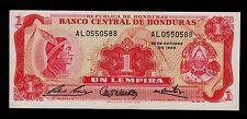 HONDURAS  1  LEMPIRA  1968  AL  PICK # 55a AU.