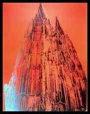 Andy Warhol Kölner Dom rot Poster Bild Kunstdruck im Alu Rahmen schwarz 90x70cm