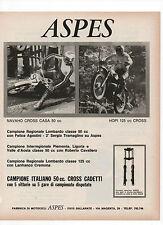 Pubblicità 1972 MOTO MOTOR ASPES CROSS NAVAHO HOPI advert werbung publicitè