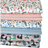 One PCS Cotton Fabric Pre-Cut Cotton cloth Fabric for Sewing Fawns Or Fox D3