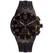 Swatch Men's Originals SUSB406 Black Rubber Analog Quartz Sport Watch