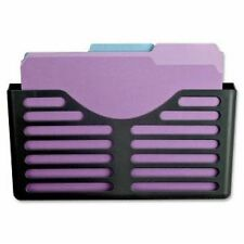 Lorell Plastic Wall/cubicle Pocket File - Plastic - Black (LLR80663)