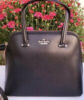 NEW Kate Spade Medium Dome Satchel Patterson Drive Black Crossbody women's Bag